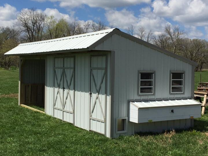 metal horse shed