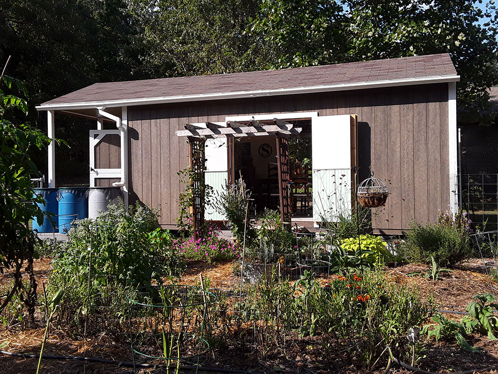 beautiful shed turned into she shed and garden shed