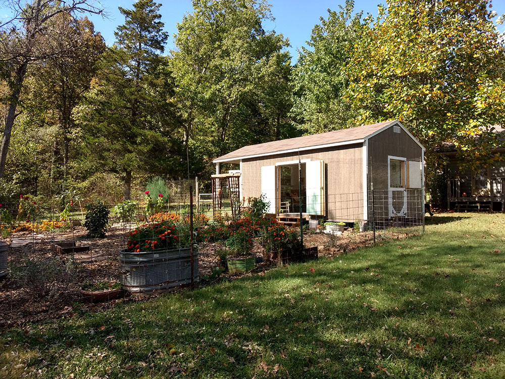 garden shed in northwest arkansas