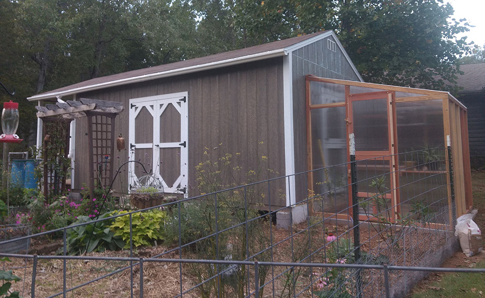 she shed with greenhouse and garden shed in arkansas