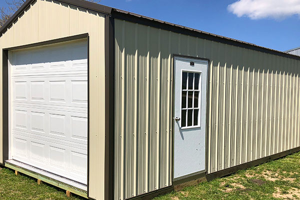 36 inch walk door on prefab garage