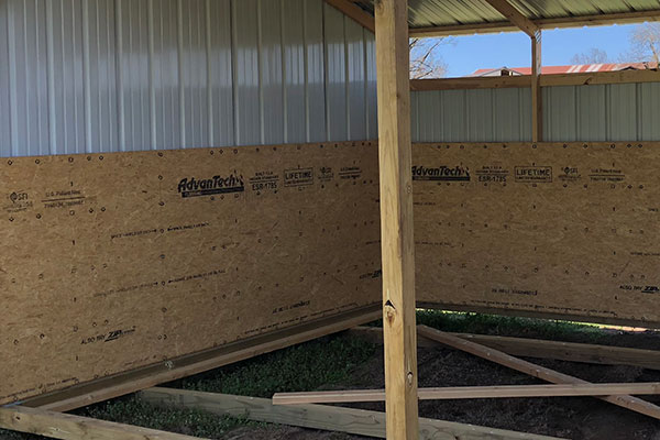 4 foot kick panel on horse sheds
