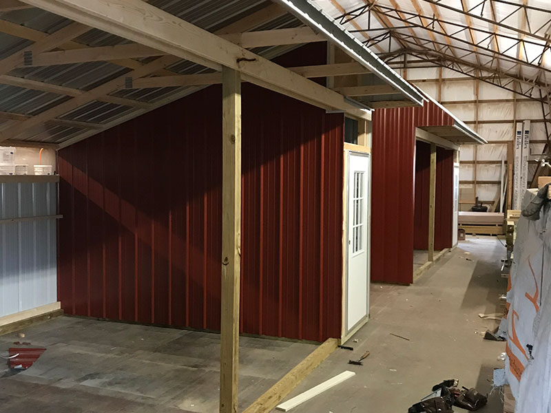 horse sheds built in madison county
