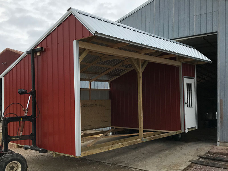 horse sheds out for delivery in huntsville arkansas
