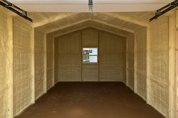 spray foam insulation option for prefab garages