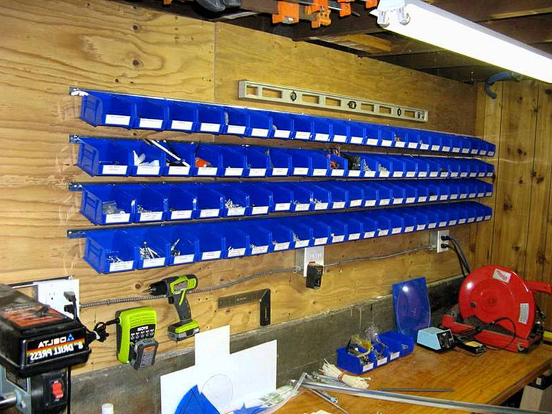 storage bins for storage shed organization ideas