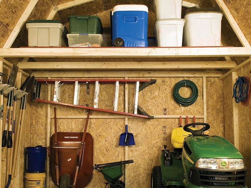 storage shed with loft