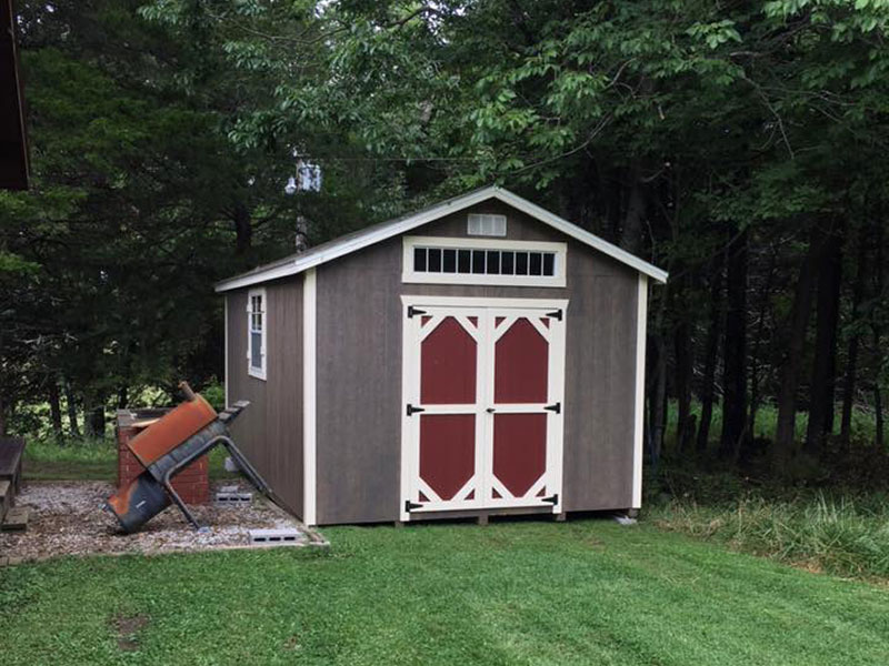 a frame wood sheds for sale