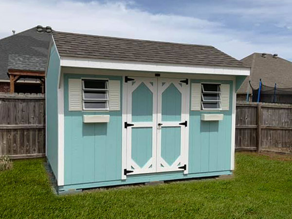 wood storage shed cottage style for sale